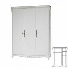 Белая роза шкаф 3 дверный F6647  (S06)