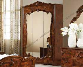Тициана шкаф 3 дверный с зеркалами орех