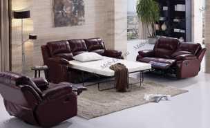 Номес ЕА42 темный диван 2 местный реклайнер