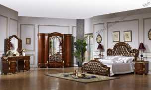 Жасмин спальня комплект: кровать 180 + 2 тумбы + туал.стол.+ 4дв.шкаф