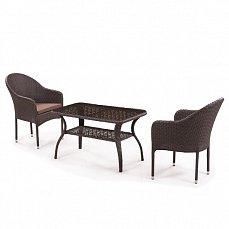 Комплект мебели Джина 2+1 ST20B/ S20B-1-2PCS иск. ротанг