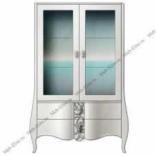 Хемис витрина 2 дверная M-190147 глянец