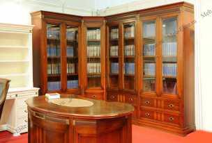 Кембридж шкаф книжный 2+угол+2+2