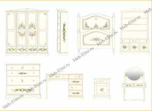 Нежность (пятилистник) шкаф-стеллаж 3 двери детский