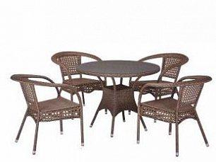 Комплект мебели 4+1 T220CT/Y32-W56 Light Brown 4Pcs иск. ротанг