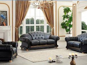 Версаче мягкая мебель 3+2+1 черный
