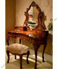 Луи 15 (Louis XV) туалетный стол с зеркалом 852 орех