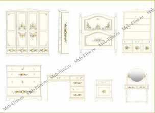 Нежность (пятилистник) шкаф 4 дверный (423) детский
