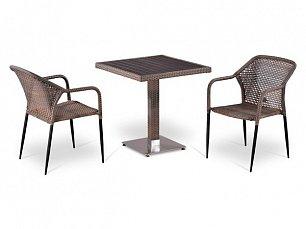 Комплект мебели 2+1 Т502DG/ Y35G-W1289 иск. ротанг