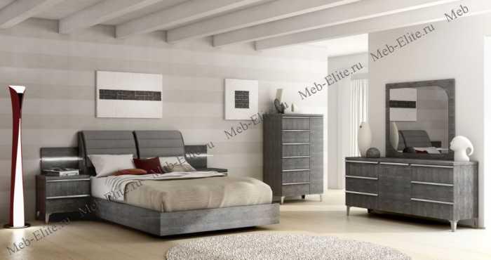 Элит спальня grey глянец