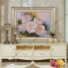 Белый Цветок 520 тумба ТВ