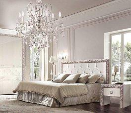 Тиффани Премиум спальня штрих-серебро глянец