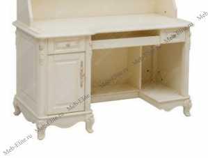 Белый Цветок стол компьютерный без надставки 8801-В