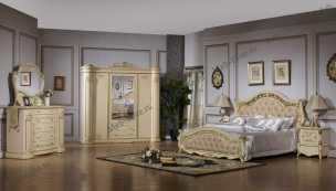 Изабель 3235 спальня комплект: кровать 180 + 2 тумбы + туал.стол.+ 4дв.шкаф