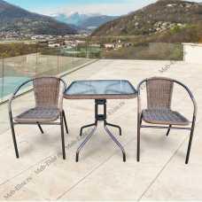 Комплект мебели Асоль-2А (иск. ротанг) TLH-037A/073A-60x60