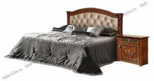 Карина 3 кровать 160х200 1 спинка+мягкий элемент орех