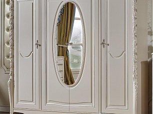 Виттория шкаф 4 дверный с зеркалом