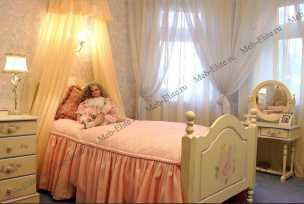 Эльфы кровать 90х150 детская резная с изножьем