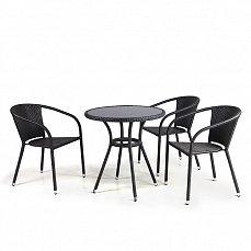 Комплект мебели 3+1 T282ANS/ Y137C-W51-3PCS иск. ротанг