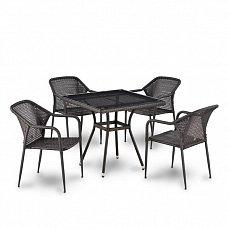 Комплект мебели 4+1 T283ВNT/ Y35-W2390-4PCS иск. ротанг