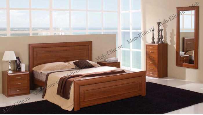 Альба спальня комплект: кровать 160+тумба прикроватная 2шт+комод