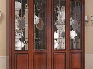Венеция витрина 4 дверная фасад витраж (орех)