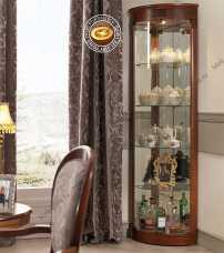 Панамар (Panamar) витрина угловая 878.001 орех/вишня