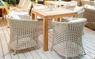Ротанг Верчелли: комплект:стол обеденный 200х100+6 кресел
