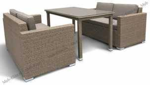 Комплект мебели с диванами 2+1 T256B/S52B-W56 Brown иск. ротанг