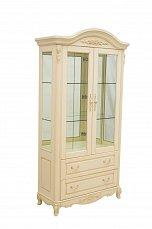 Белый Цветок витрина 2 дверная 8801