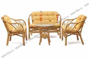 Богота комплект: диван + столик + 2 кресла мёд