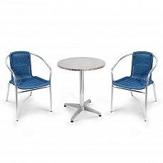 Комплект мебели 2+1 LFT-3199E/T3127-D60 Blue 2Pcs алюминий