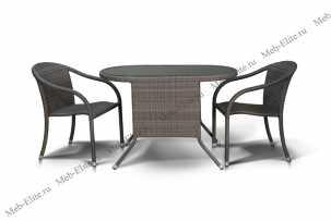 Ротанг Паво комплект: стол кофейный 113х65+2 полукресла