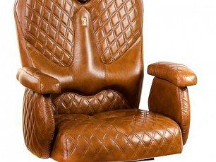 DIAMOND кресло рабочее коричневое