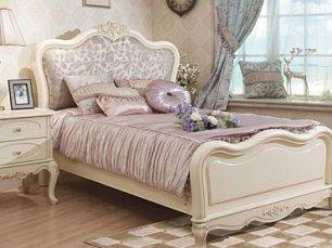 Белый Цветок кровать без основания 90х200 8801А/8802 жаккард