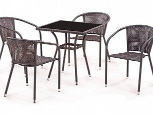 Комплект мебели 4+1 T282BNS/ Y137B-W51-4PCS иск. ротанг