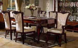 Роял стол обеденный 2,0 (2,4-2,8) орех+золото