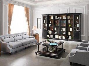 Местре мягкая мебель 3+1+1 (махагон)