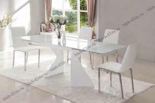 ЕСФ столовая комплект: стол обеденный 160/220х90 CT992 + стулья BZ692 4 шт.