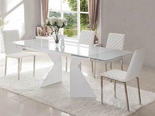 ЕСФ столовая комплект: стол обеденный 160/220х90 CT992 + стулья BZ692 4 шт. глянец