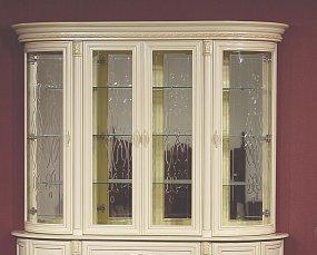 Милан витрина 4 дверная 1-01
