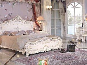 Мирабелла 3907 спальня комплект: кровать 180х200 + 2 тумбы прикроватные + туалетный стол с зеркалом + шкаф 4 дверный с зеркалом