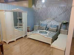 Анетта 1320 спальня комплект: кровать 180+туалетный стол с/з+2тумбы прикроватные+шкаф 5 дверный