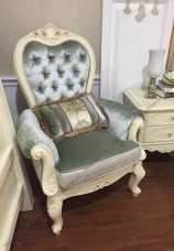 Белый Цветок кресло для отдыха ткань МТ8812