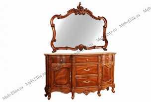 Луи 15 (Louis XV) зеркало буфета 700 орех