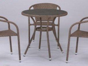 Комплект мебели 3+1 T282ANT/Y137C-W56 Light Brown 3Pcs иск. ротанг