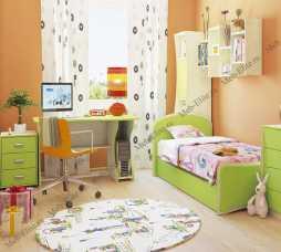Комби МН-211 спальня комплект:1-дверный шкаф (МН-211-15) + кровать (МН-211-09) + комод (МН-211-24) + стол (МН-211-05)