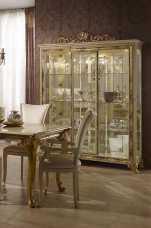 Катя витрина 3 дверная беж