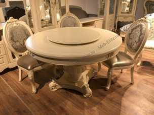 Милано стол обеденный 138х138 MK-1894-IV круглый