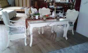 Мик ротанг  Хайма комплект MK-3468: обеденный стол 140х90 + 4 стула + 2 кресла